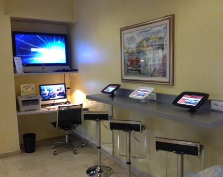 Try the new iPad at 3 star Hotel Cristallo Rovigo