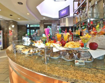 breakfast buffet with typical and international products at the Best Western Hotel  Cristallo in Rovigo